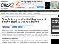Google Analytics Unified Segments: 5 Simple Steps to Get You Started