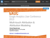 Multi Touch Attribution & Attribution Modeling