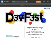 DevFest Chiang Mai - Implementing Google Analytics