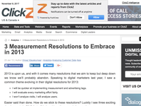 3 Measurement Resolutions to Embrace in 2013