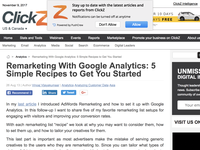 Remarketing With Google Analytics: 5 Simple Recipes to Get You Started