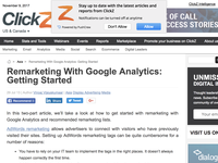 Remarketing With Google Analytics: Getting Started