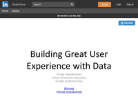 TEDx Johnson & Johnson - Building Great User Experience with Data