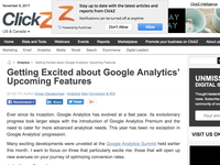 Getting Excited about Google Analytics' Upcoming Features