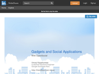 RIAction Social Applications in the Cloud
