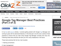 Google Tag Manager Best Practices (Part 3 of 3)