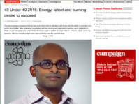 Campaign Asia 40 Under 40 2015 Award