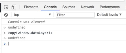 Google Chrome DevTools Console - copy JSON to clipboard