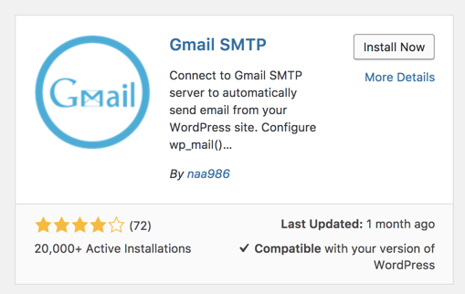 Configure WordPress to send emails through Gmail's SMTP servers