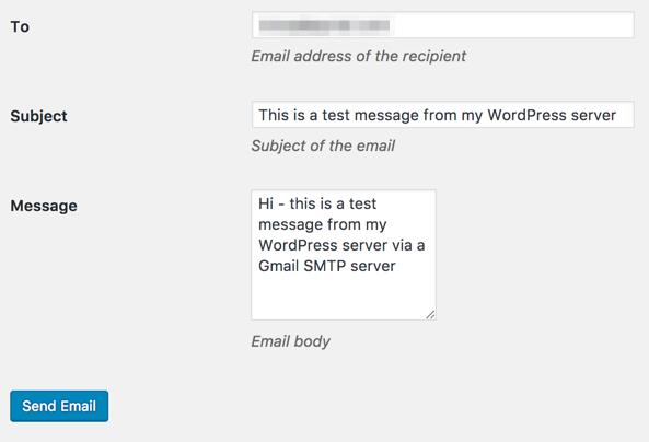 Configure WordPress to send emails through Gmail's SMTP
