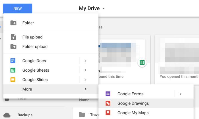 Google Drive - New Google Drawing